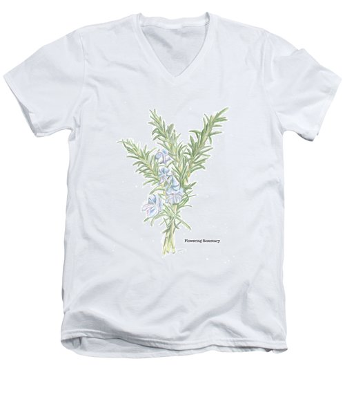 Flowering Rosemary Men's V-Neck T-Shirt