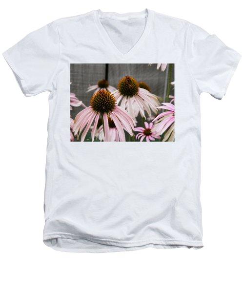 Flowers Along The Fence Men's V-Neck T-Shirt