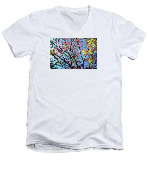 Flowers And Trees Men's V-Neck T-Shirt
