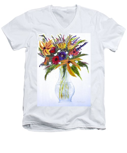 Flowers For An Occasion Men's V-Neck T-Shirt