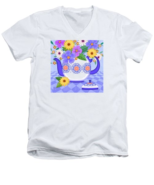 Flowers From My Garden Men's V-Neck T-Shirt