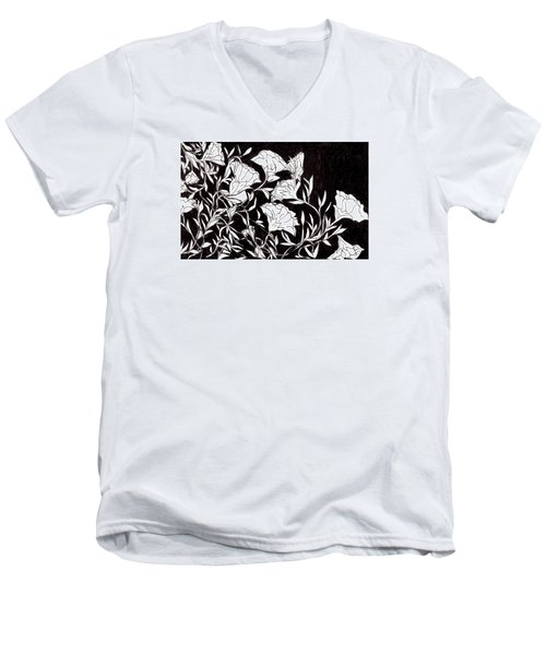 Flowers Men's V-Neck T-Shirt