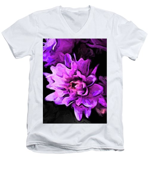 Flowers Of Lavender And Pink 1 Men's V-Neck T-Shirt