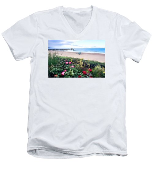 Flowers Of Manhattan Beach Men's V-Neck T-Shirt