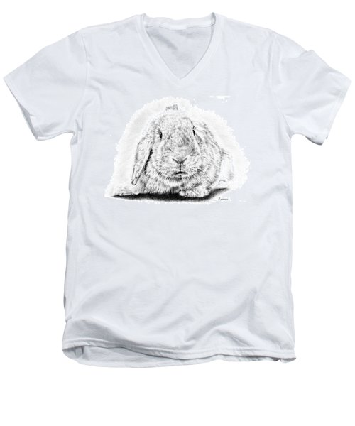 Fluffy Bunny Men's V-Neck T-Shirt