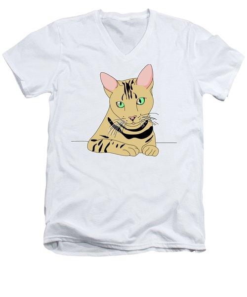 Fluffy Men's V-Neck T-Shirt