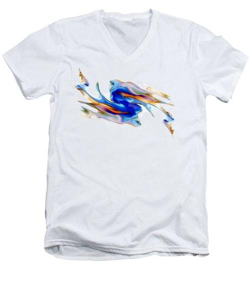 Fluid Colors Men's V-Neck T-Shirt by Fran Riley