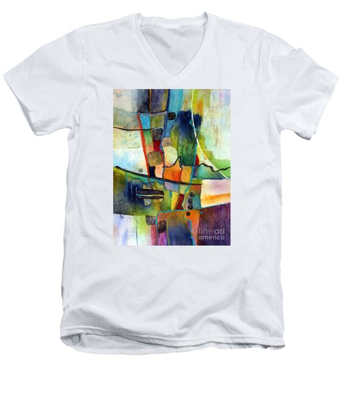 Fluvial  Mosaic Men's V-Neck T-Shirt