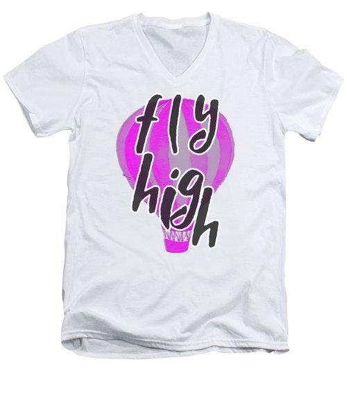 Fly High Men's V-Neck T-Shirt