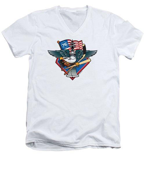 Fly. Philly, Fly, Crest Men's V-Neck T-Shirt