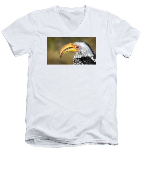 Flying Banana Men's V-Neck T-Shirt by Joe Bonita