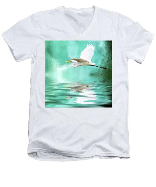 Flying High Men's V-Neck T-Shirt by Cyndy Doty