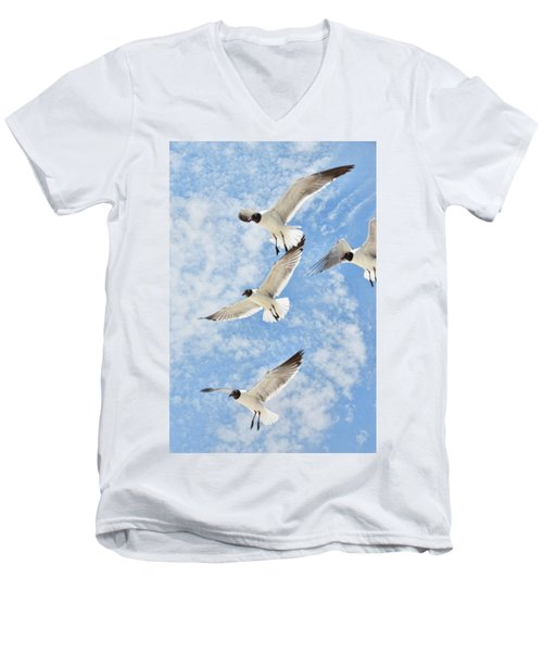 Flying High Men's V-Neck T-Shirt