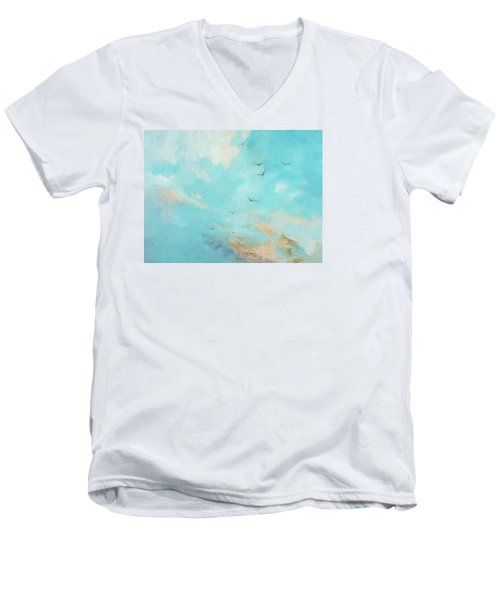Flying High Men's V-Neck T-Shirt by Dina Dargo