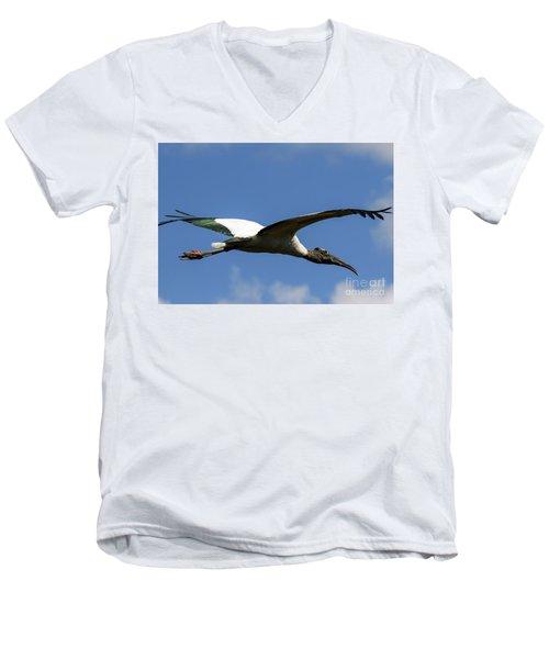 Flying Stork-no Baby Men's V-Neck T-Shirt