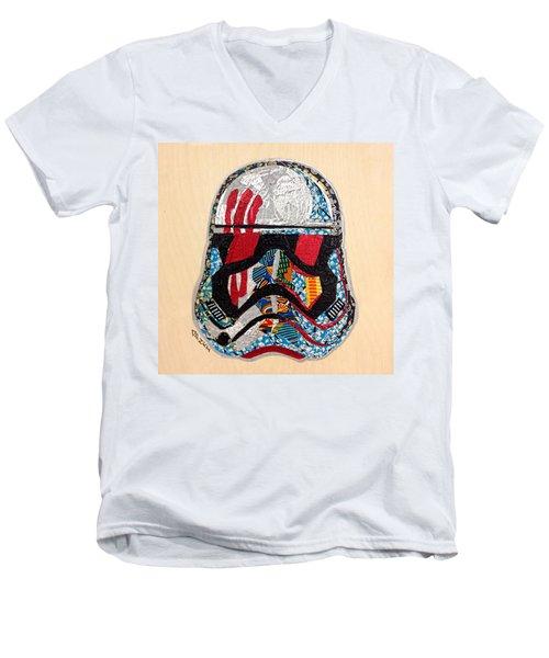 Storm Trooper Fn-2187 Helmet Star Wars Awakens Afrofuturist Collection Men's V-Neck T-Shirt