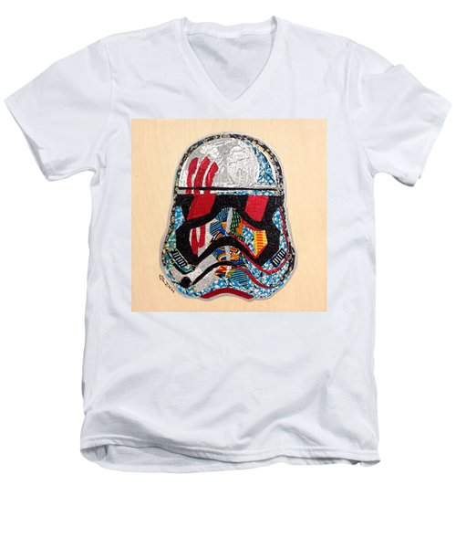 Storm Trooper Fn-2187 Helmet Star Wars Awakens Afrofuturist Collection Men's V-Neck T-Shirt