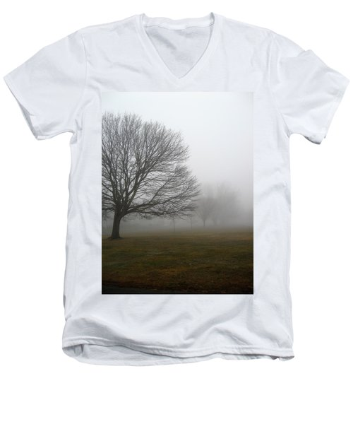 Men's V-Neck T-Shirt featuring the photograph Fog by John Scates