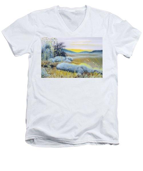 Foggy Dawn Through Window Men's V-Neck T-Shirt