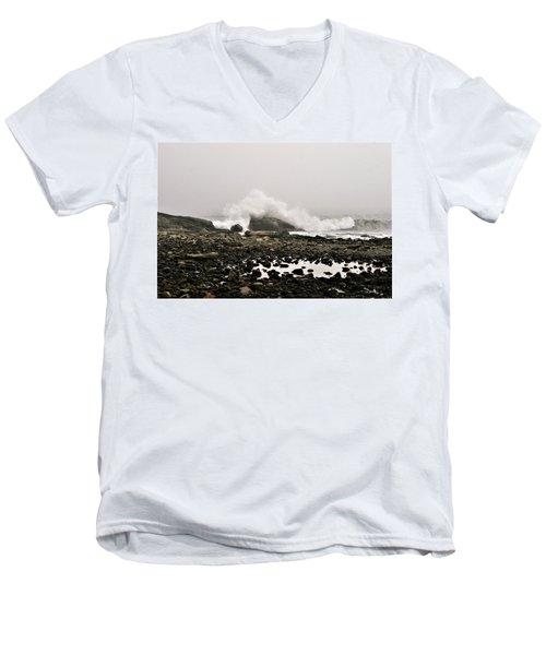 Foggy Day At The Coast Men's V-Neck T-Shirt