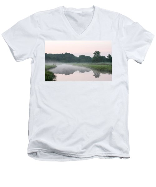 Foggy Morning Reflections Men's V-Neck T-Shirt