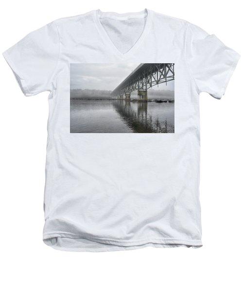 Foggy Reflection Men's V-Neck T-Shirt