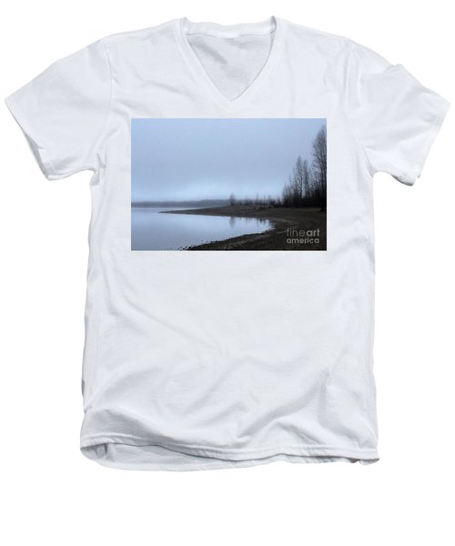 Men's V-Neck T-Shirt featuring the photograph Foggy Water by Victor K