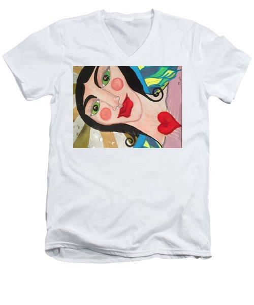 Folk Goddess Angel Men's V-Neck T-Shirt