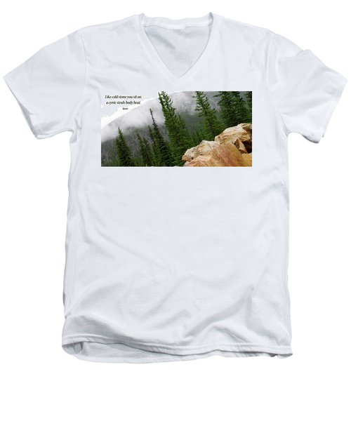 Food For Thought Men's V-Neck T-Shirt by Rhonda McDougall
