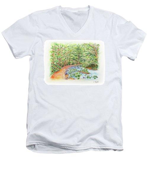 Footbridge Men's V-Neck T-Shirt