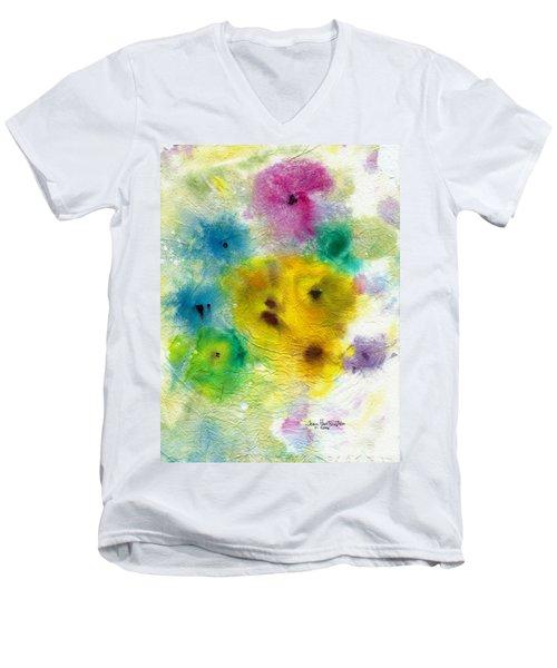 For Elise Men's V-Neck T-Shirt by Joan Hartenstein