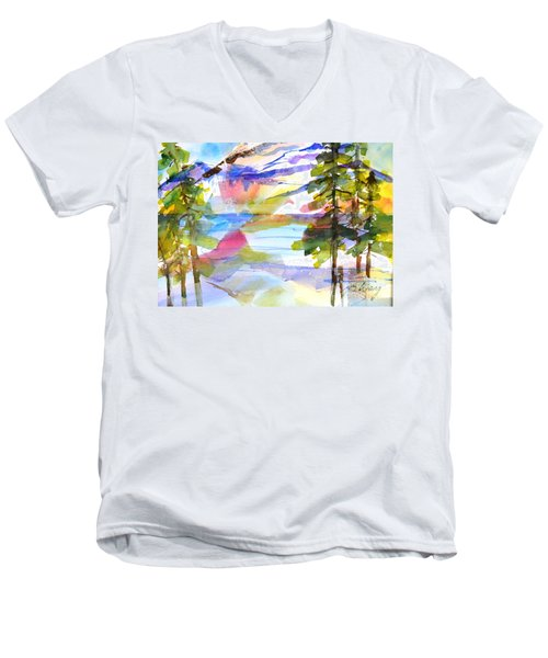 For Love Of Winter #1 Men's V-Neck T-Shirt by Betty M M Wong