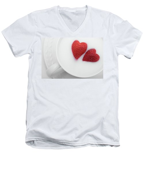 For Valentine's Day Men's V-Neck T-Shirt by William Lee