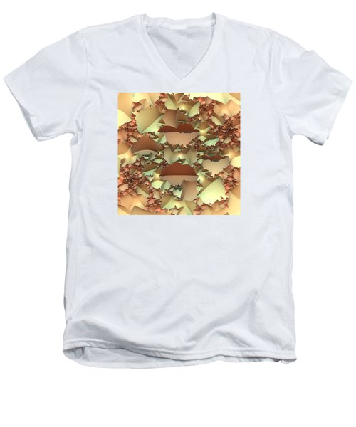 Men's V-Neck T-Shirt featuring the digital art For Your Wall by Lyle Hatch
