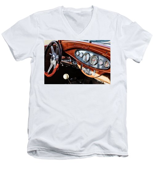 Men's V-Neck T-Shirt featuring the photograph Ford Coupe IIi by Brad Allen Fine Art