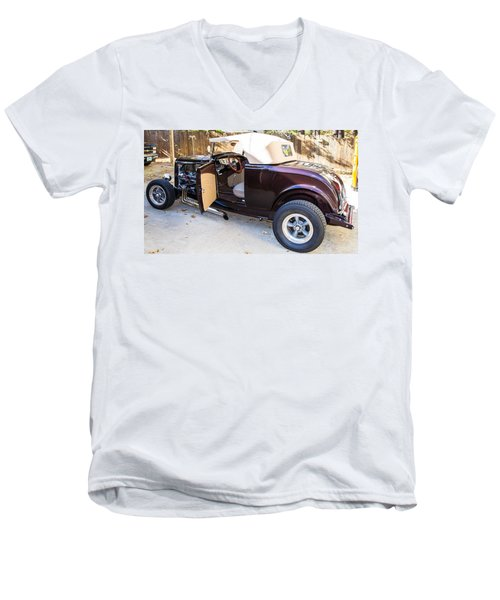Ford Coupe Men's V-Neck T-Shirt by Shannon Harrington