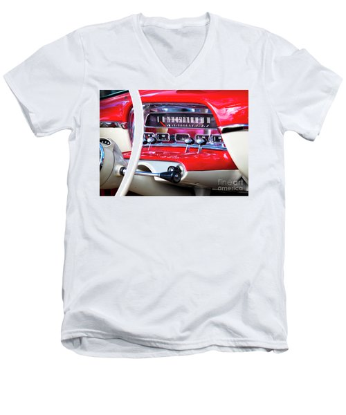 Men's V-Neck T-Shirt featuring the photograph Ford Dash by Chris Dutton