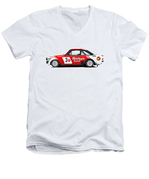 Ford Escort Rs Belga Team Illustration Men's V-Neck T-Shirt
