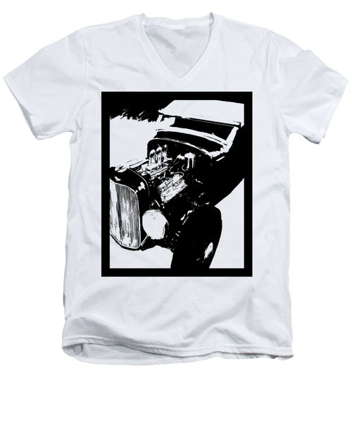 Ford Flathead Roadster Tee Men's V-Neck T-Shirt
