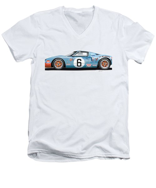 Ford Gt 40 1969 Men's V-Neck T-Shirt