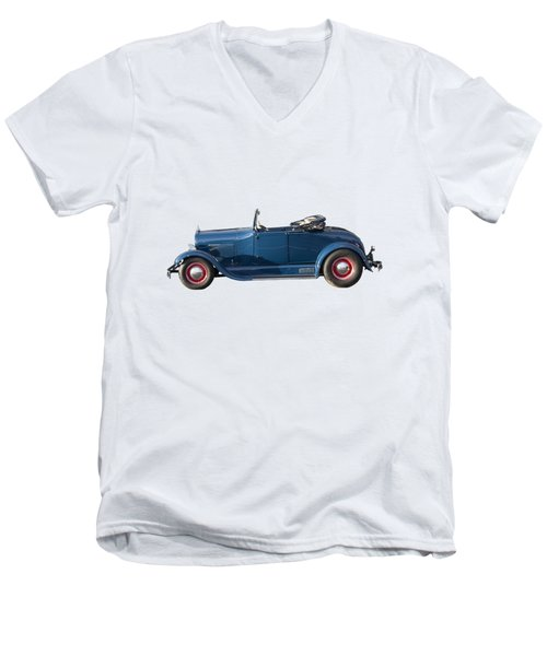 Ford Model A Men's V-Neck T-Shirt by John Haldane