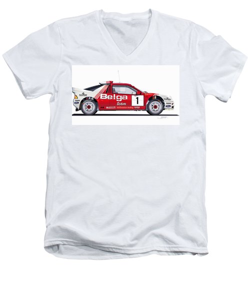 Ford Rs 200 Belga Team Illustration Men's V-Neck T-Shirt
