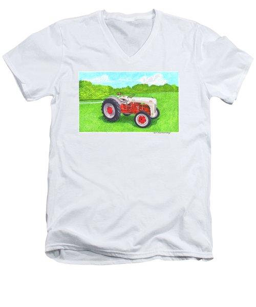 Ford Tractor 1941 Men's V-Neck T-Shirt by Jack Pumphrey
