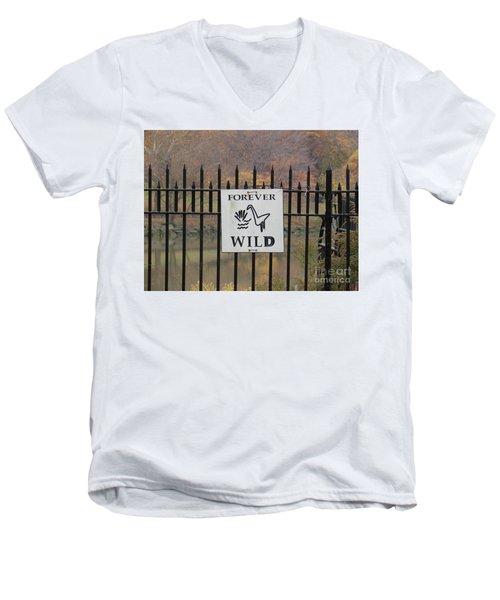 Forever Wild Men's V-Neck T-Shirt