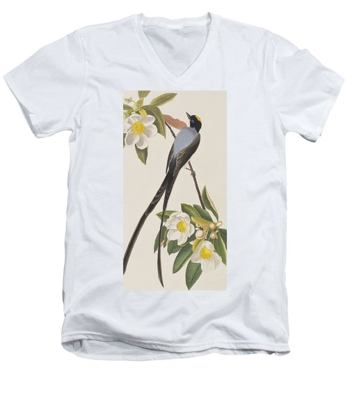 Fork-tailed Flycatcher  Men's V-Neck T-Shirt