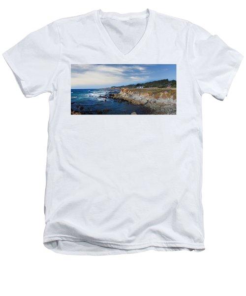 Fort Bragg Mendocino County California Men's V-Neck T-Shirt by Wernher Krutein