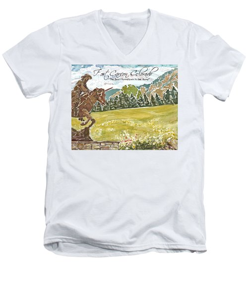 Best Hometown In The Army Men's V-Neck T-Shirt