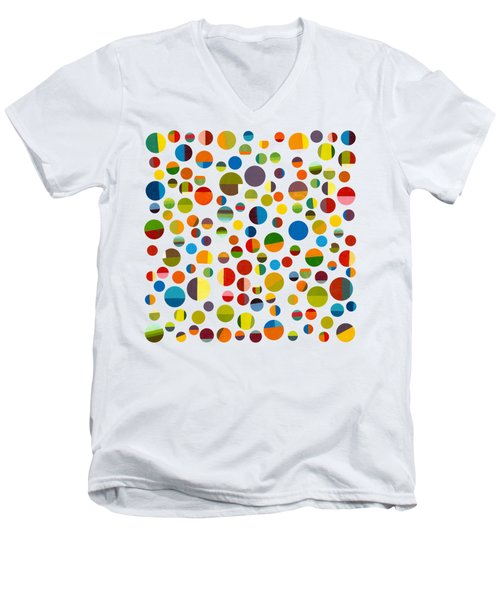 Men's V-Neck T-Shirt featuring the digital art Found My Marbles 3.0 by Michelle Calkins