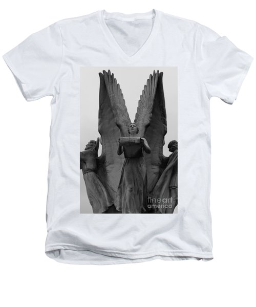 Four Angels Men's V-Neck T-Shirt