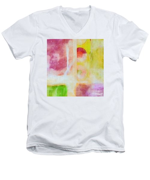 Men's V-Neck T-Shirt featuring the photograph Four Corners by William Wyckoff